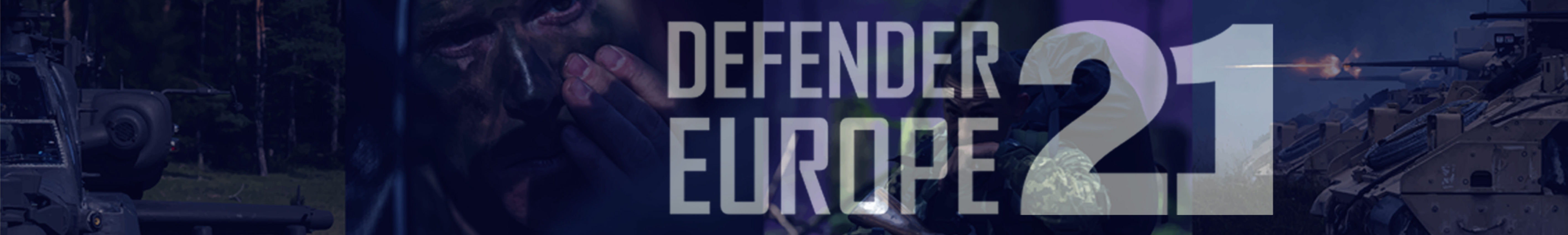 DEFENDER-Europe 21 Website Header